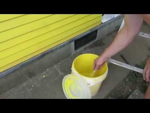 木の外壁材施工と塗装 キシラデコール コンゾラン ブリリアントイエロー Installing andpainting wood siding
