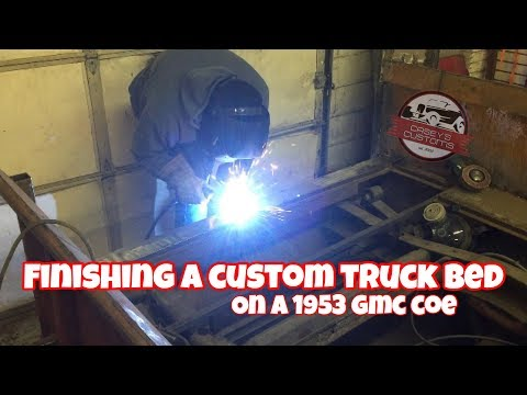 FINISHING BUILDING A CUSTOM TRUCK BED FROM SCRATCH!! HOT RAT ROD FABRICATING / WELDING