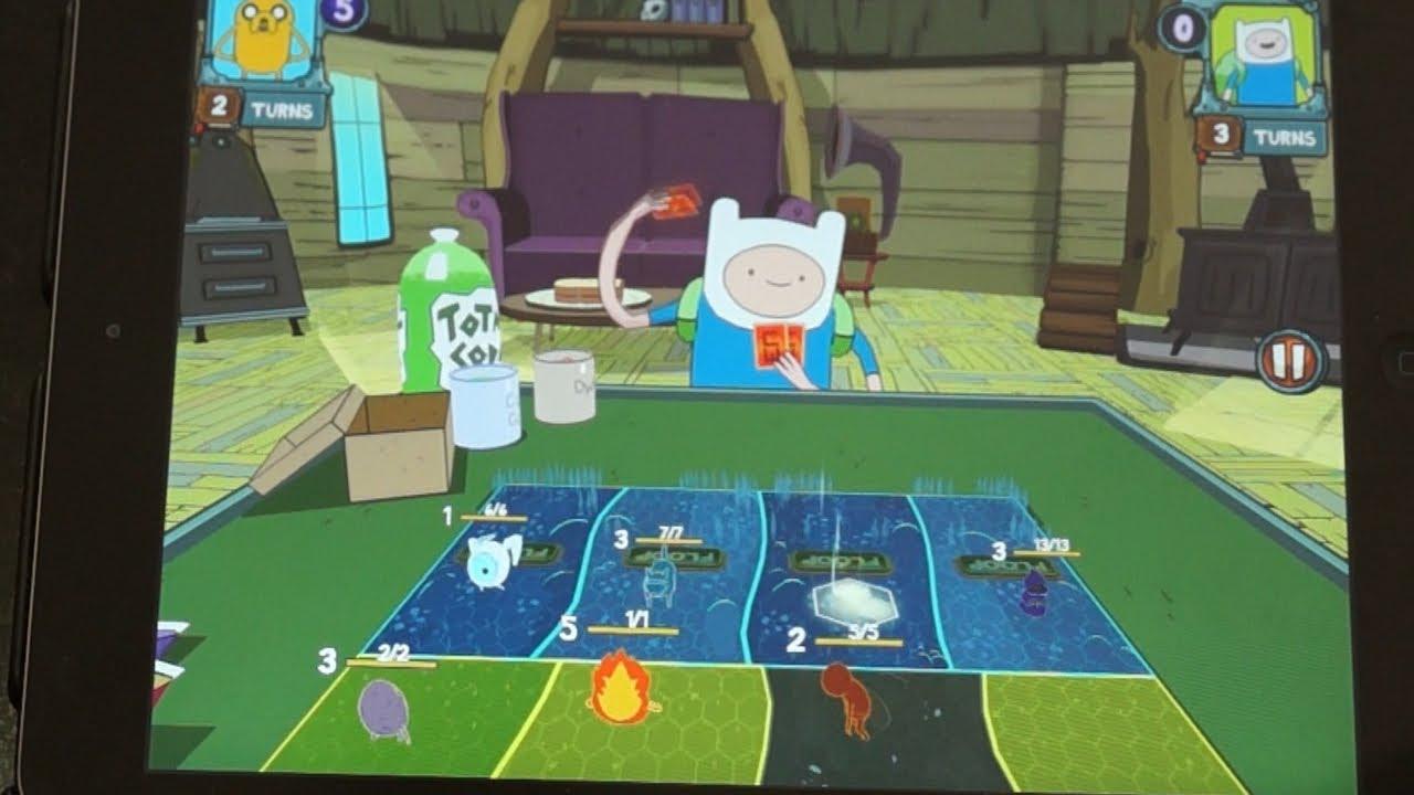 kart finn n Adventure Time Card Wars Gameplay + App Review (Jake vs. Finn  kart finn n