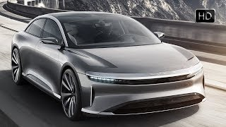 Lucid Air 2019 The 1000 Horsepower Electric Luxury Car Interior Design & Driving Footage HD