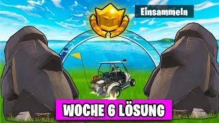 🗿 Fortnite Suche STEIN KÖPFE 🗿 Zeitliche Herausforderung | Woche 6 Season 5 BattlePass Deutsch