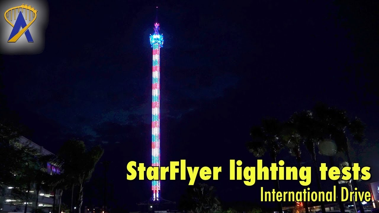 Lights On The Starflyer International Drive In Orlando Florida