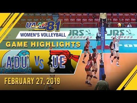 UAAP 81 WV: AdU vs. UE | Game Highlights | February 27, 2019