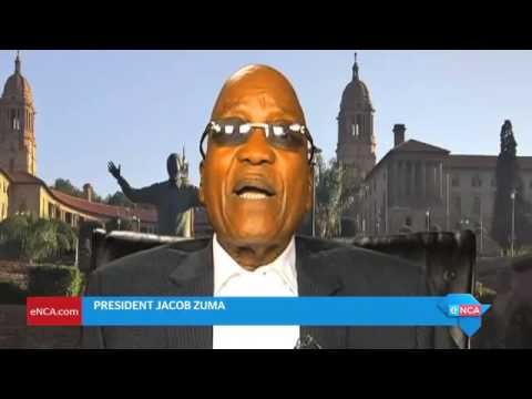 Zuma delivers New years massage