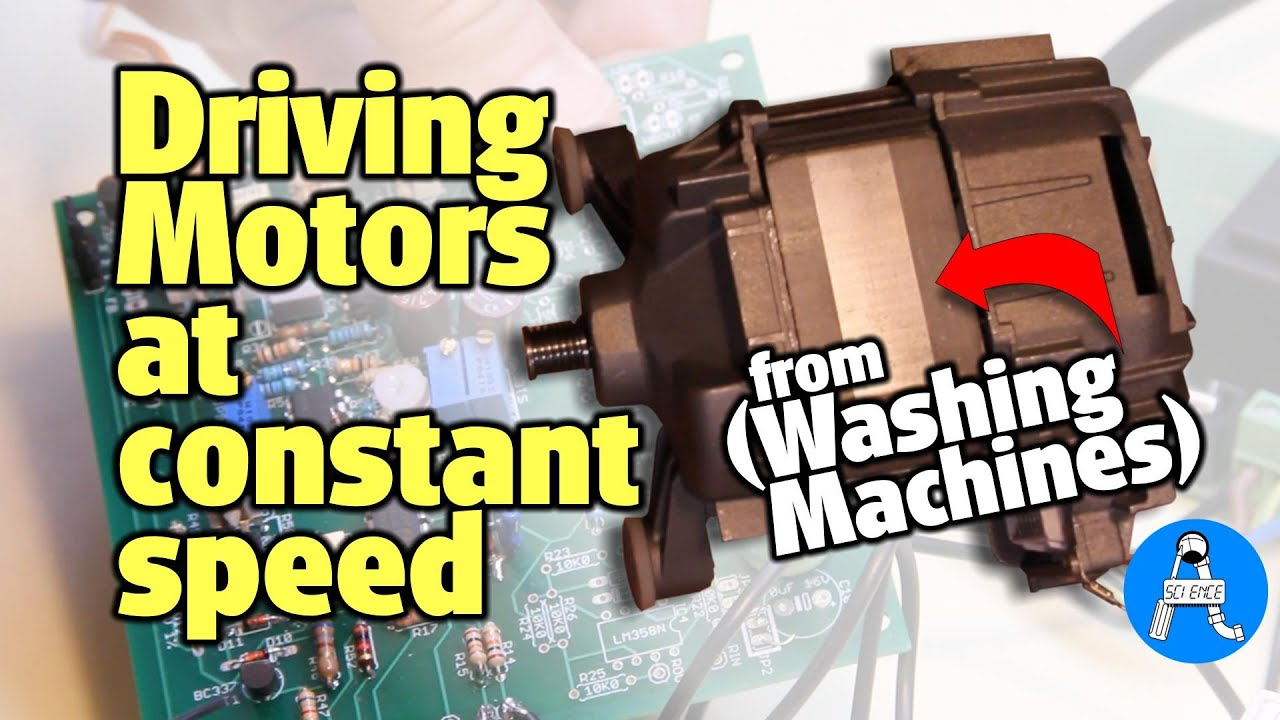How to drive powerful motors recycled from washing machines
