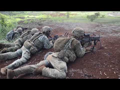Soldiers Live Fire At Schofield
