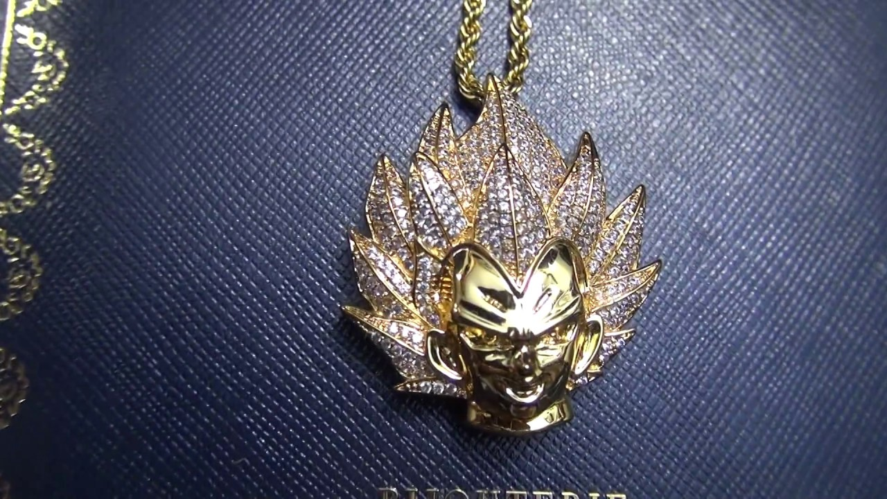 Custom gold vegeta necklace pendant and chain at bijouteriegonin custom gold vegeta necklace pendant and chain at bijouteriegonin aloadofball Image collections