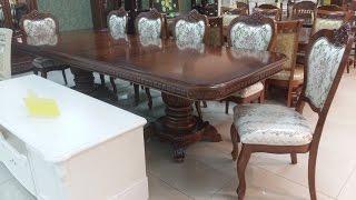 Обеденные столы и стулья Малайзия. Стол Daming 718 + стулья Classic 8014С
