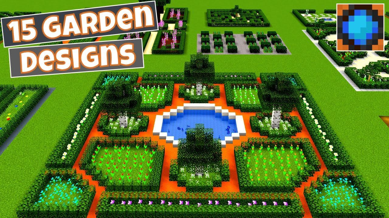 Minecraft Formal Garden Design Ideas - YouTube