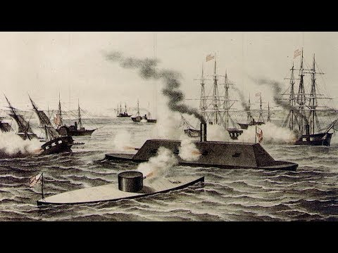 History's first battle between ironclad ships - 3/9/1862