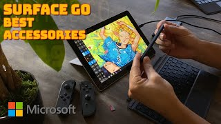 Surface Go - Top Accessories Guide - Bluetooth keyboard, pen, stylus, portable battery, micro ssd
