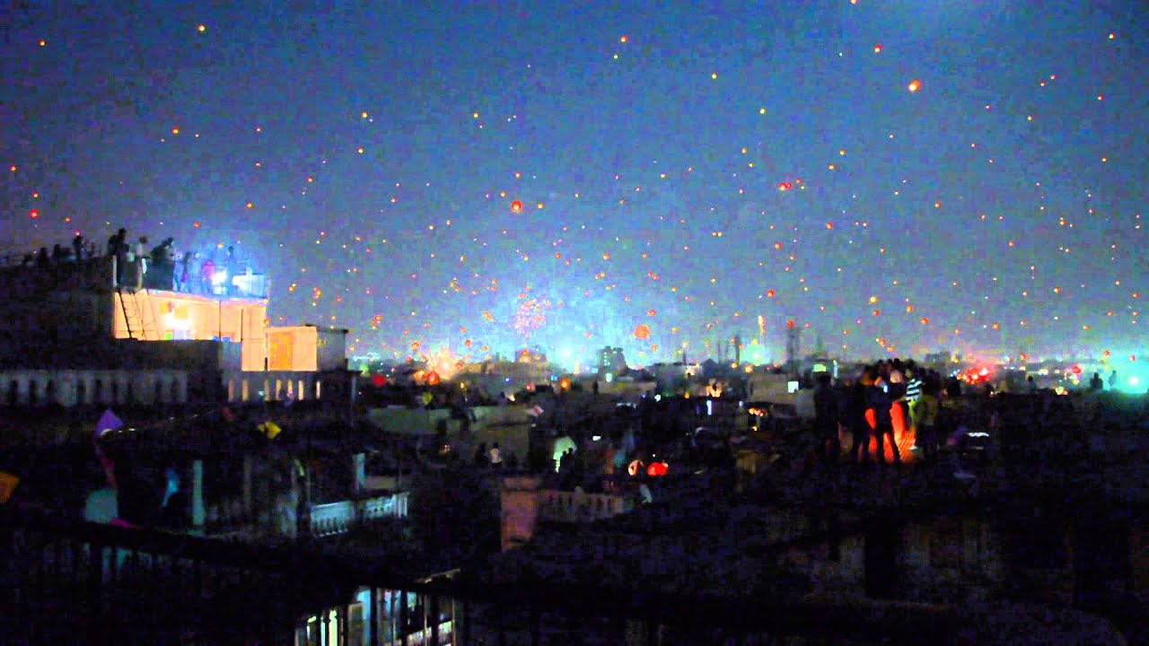 Ahmedabad (India) Kite Festival, 2014 - Day to night - YouTube