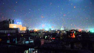 Ahmedabad (India) Kite Festival, 2014 - Day to night