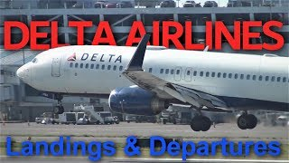 7 minutes of Delta Air Lines Landings and Departures