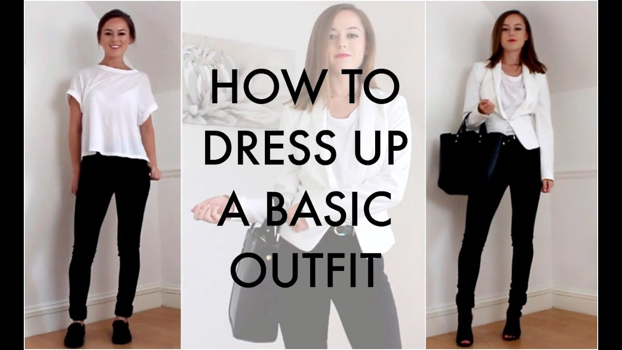 HOW TO: DRESS UP A BASIC WHITE T-SHIRT - YouTube
