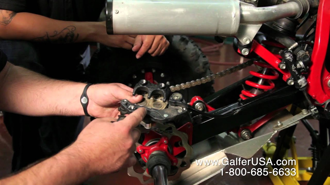 medium resolution of how to install rear brake pads on an atv