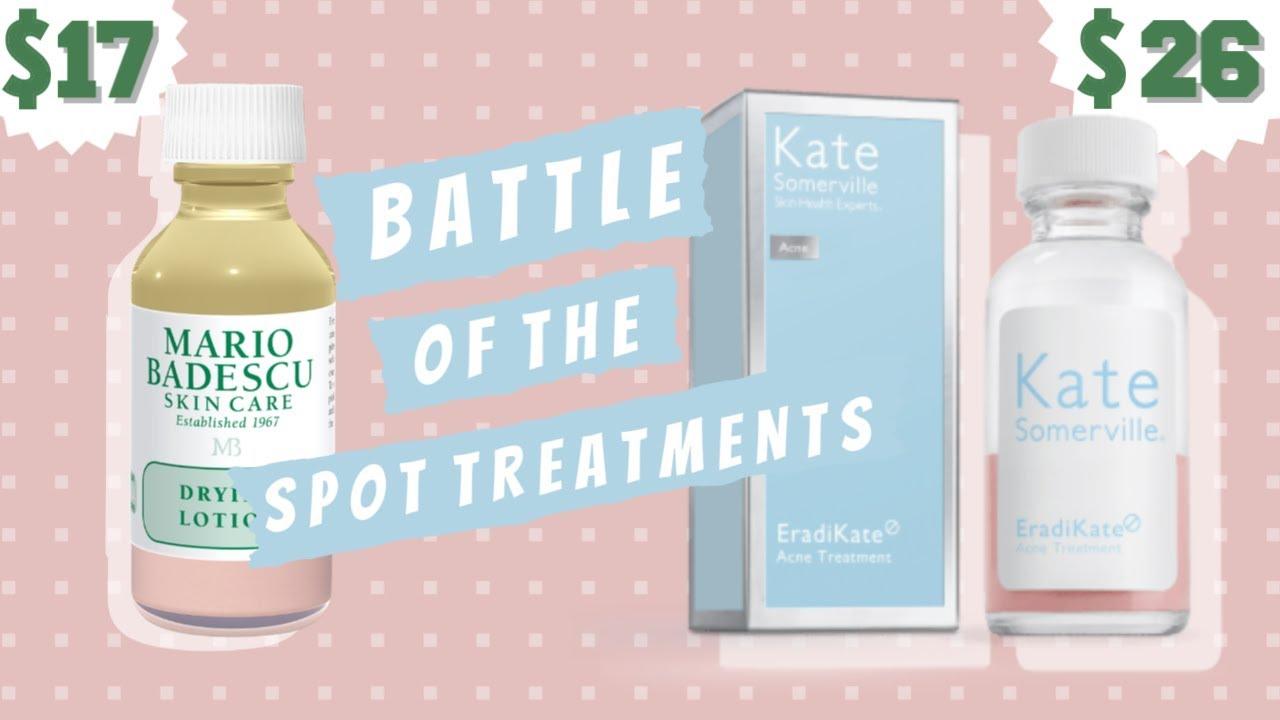 Battle Of The Spot Treatments Eradikate Acne Treatment Vs Drying Lotion Hannah Ra Youtube
