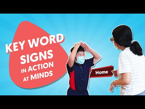 Key Word Signs in action at MINDS