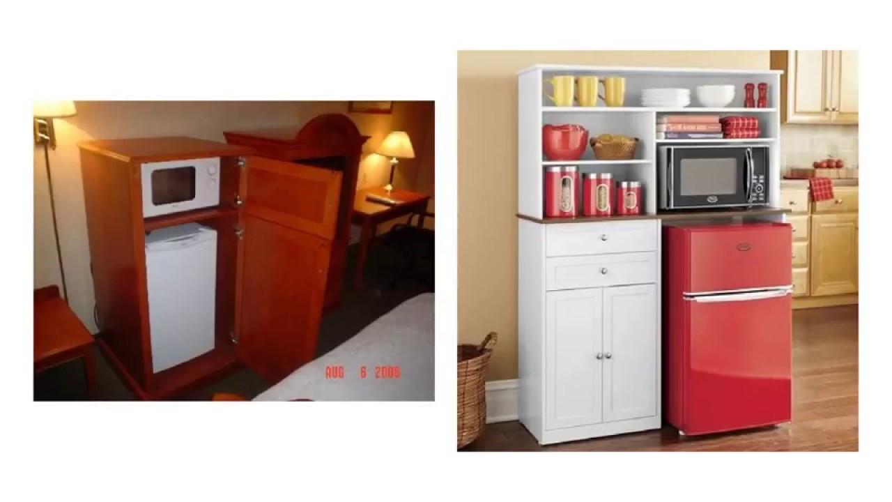 Microwave Refrigerator Cabinet For Dorm, Mini Fridge Cabinet For Dorm Room