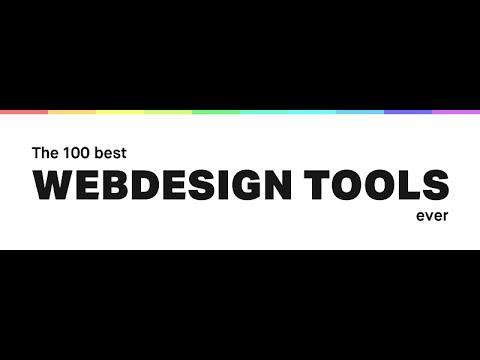 Top 100 Web Design Tools 2017 | Website Design Essentials | Tips & Tricks