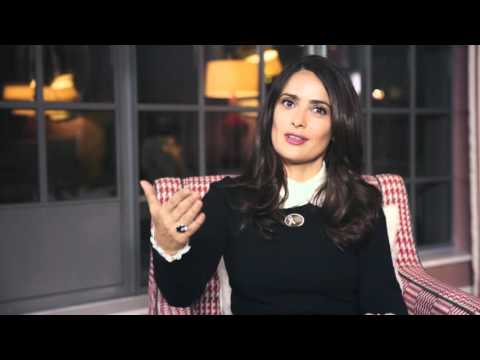 Salma Hayek On How To Be Chivalrous For Kering White Ribbon Campaign