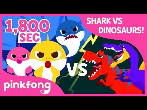 Baby Shark vs Dinosaurs   +Compilation   April Fools Prank    Best Nursery Rhymes for Kids