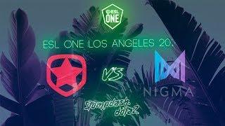 🔴GAMBIT VS NIGMA | BO3 | ESL ONE LA ONLINE | GAME 2 LIVE!
