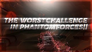THE WORST CHALLENGE IN ROBLOX PHANTOM FORCES!! (LOWEST FOV AND MAX ROBLOX SENSITIVITY)