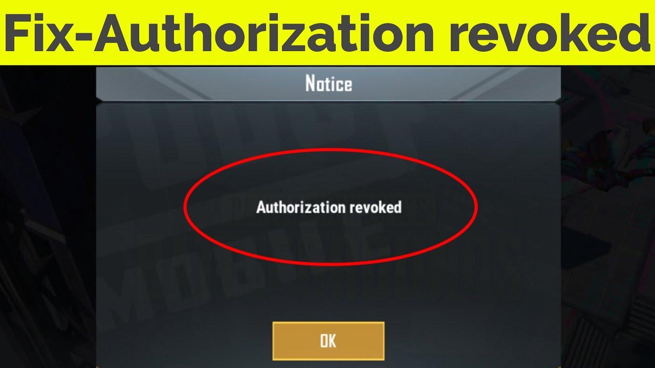 Fix Pubg Authorization Revoked Error  Solve Authorization Revoked Pubg Mobile Facebook & Google