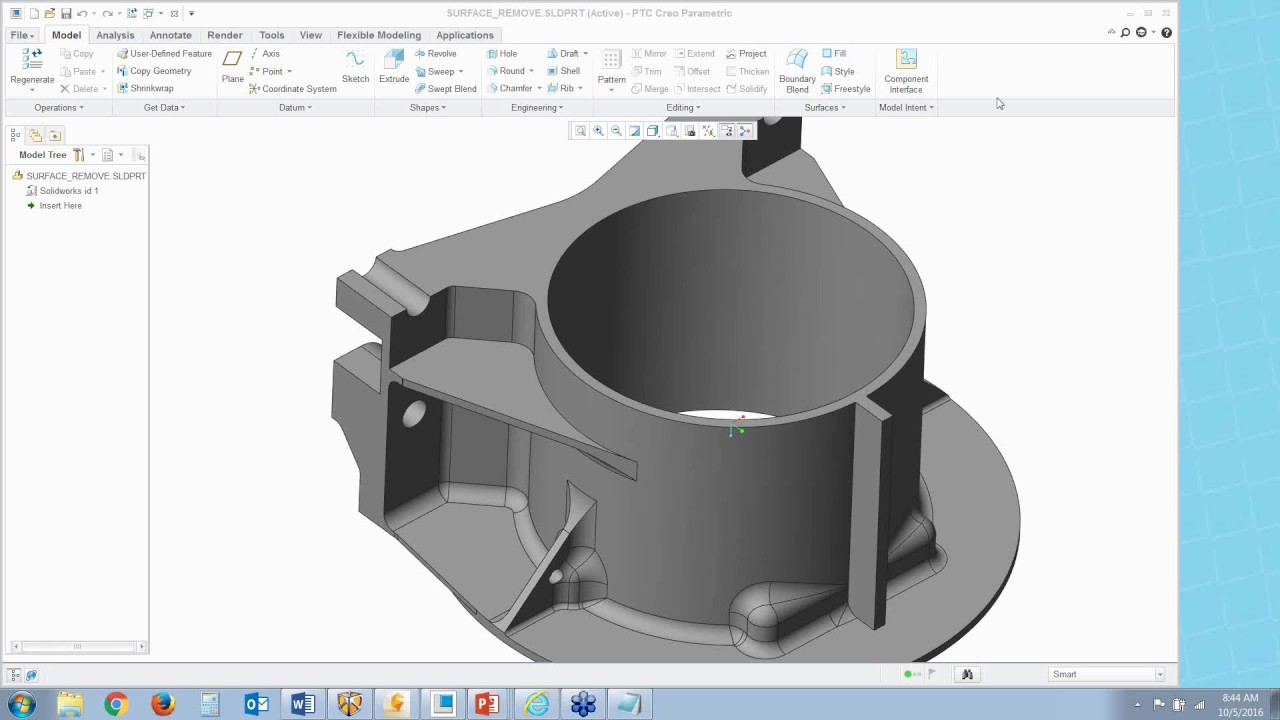 Using Creo to Edit NX, Catia, and Solidworks