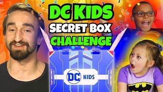 DC KIDS SECRET BOX CHALLENGE!   Super Hero Month   DC Kids