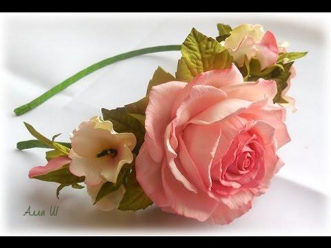 МК Як зробити обруч з квітами із фоамірану. Как сделать ободок с цветами из фоамирана.