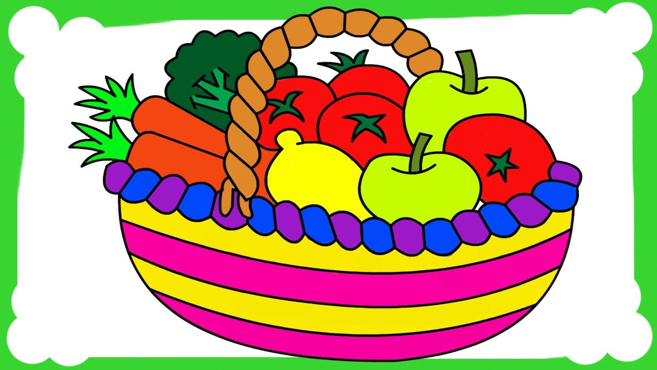 fruits and vegetables coloring pages for kids fruits vegetables