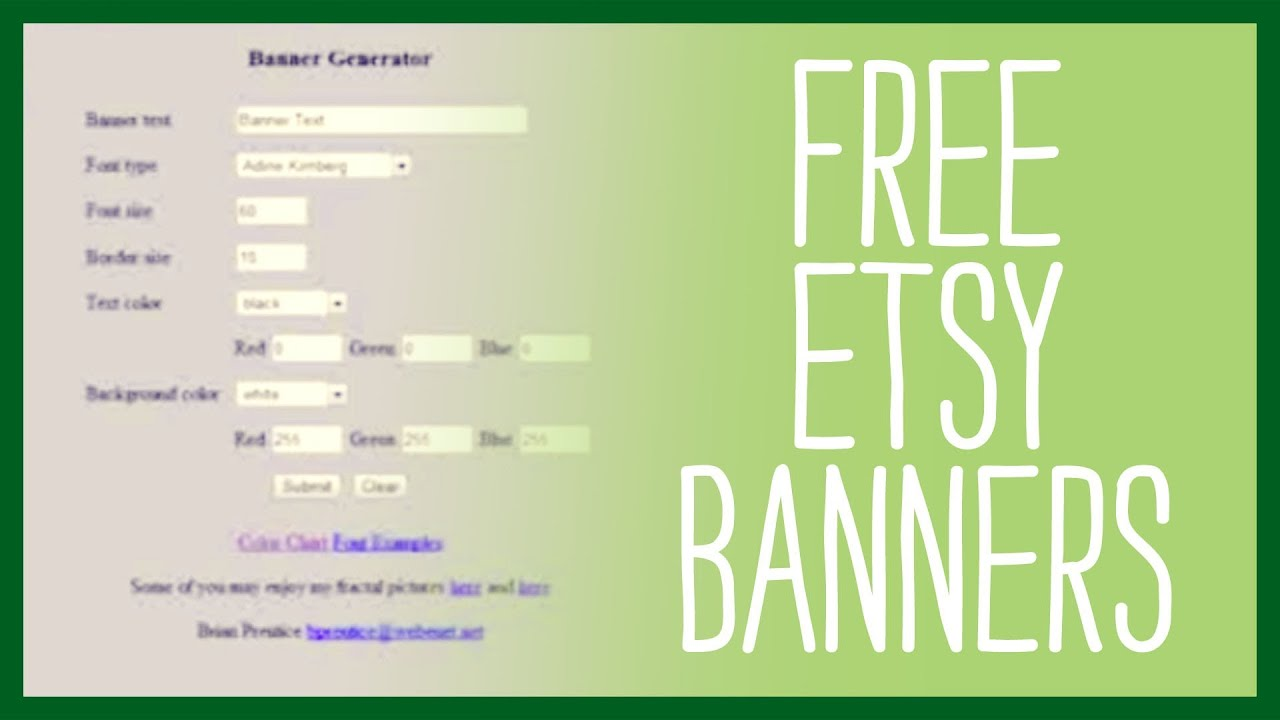 free etsy banners  top sites that generate a free etsy banner for