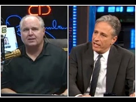 Rush Limbaugh Gives Jon Stewart Props for Tough Kathleen Sebelius Interview - 10/8/13