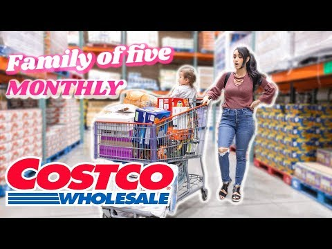COSTCO MONTHLY SHOP WITH ME FOR MY FAMILY OF 5 + HAUL!