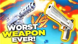 Fortnite - SMG vs PISTOL! WORST Weapon in Fortnite Battle Royale!