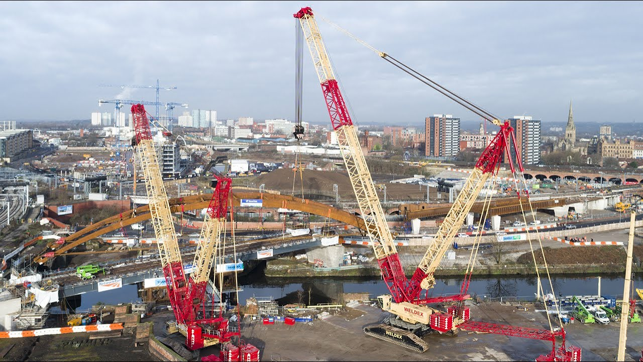 Liebherr - A special place and a special event for Liebherr LR 1750 & LR  11350 crawler cranes