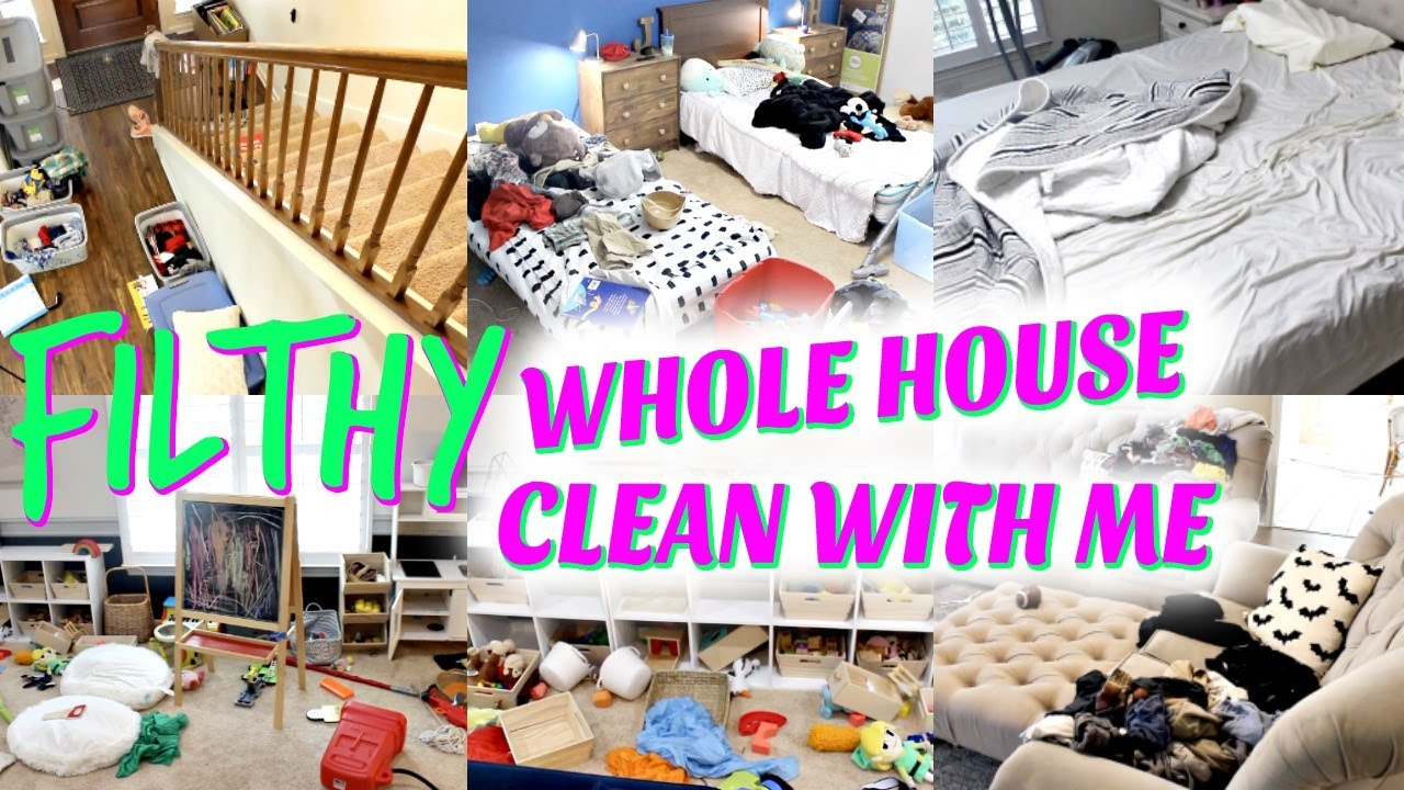 *FILTHY* WHOLE HOUSE CLEAN WITH ME! CLEANING MOTIVATION! MESSY HOUSE! WEEKLY CLEANING ROUTINE!