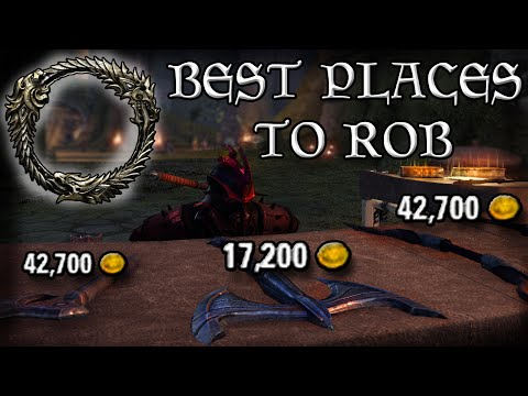 The BEST places to ROB to make MONEY in ESO (Elder Scrolls Online Quick Tips for PC, PS4, and XB1)