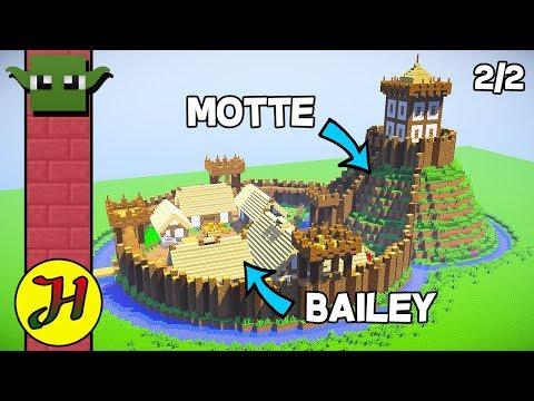 Minecraft Tutorial: Motte & Bailey Castle (Survival Village) - Part 2/2