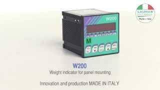 W200 -- Weight indicator - LAUMAS