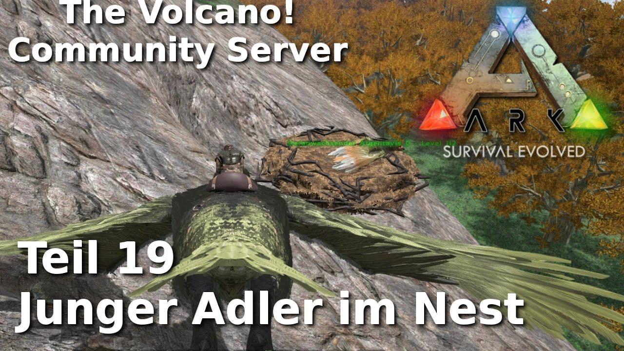 Ark Community Server The Volcano! 19 - Junger Adler im Nest - deutsch/german