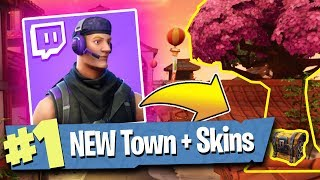 NEW TWITCH SKINS + LUCKY LANDING TOWN - Fortnite: Battle Royale