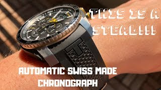 This Is A Great Swiss Made Automatic Chronograph At A Great Price!