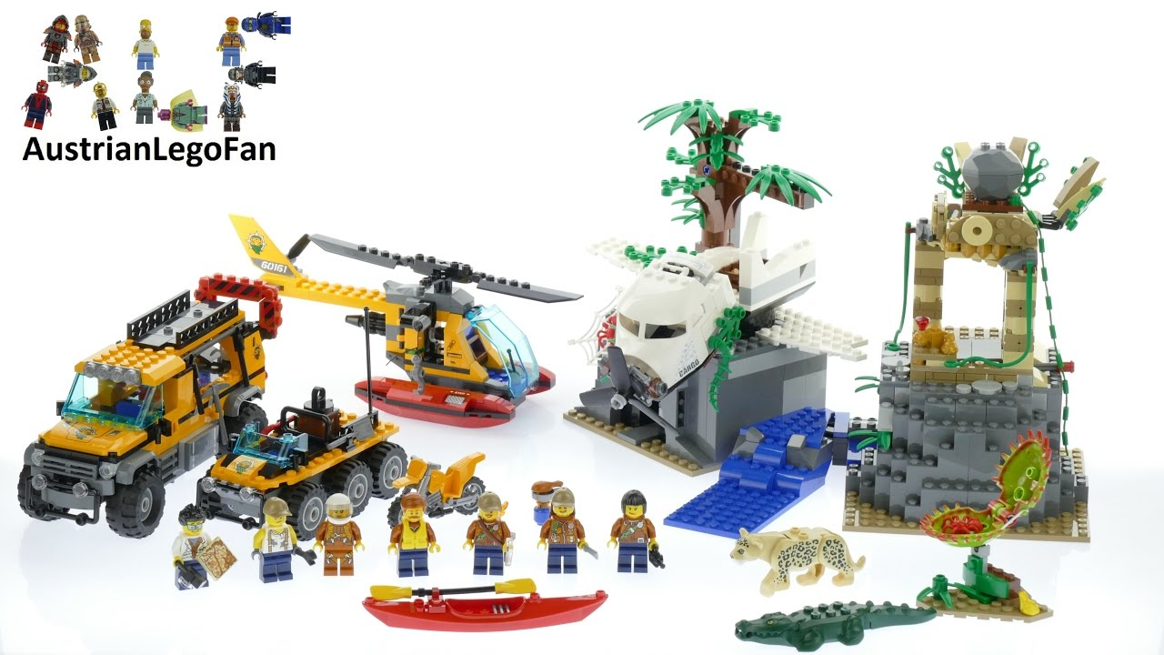 Lego City 60161 Jungle Exploration Site Lego Speed Build Review