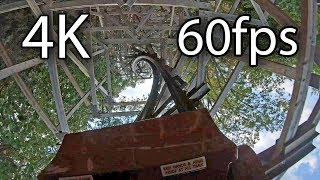 Outlaw Run front seat on-ride 4K POV @60fps Silver Dollar City