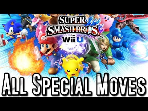 Super Smash Bros Wii U ALL SPECIAL MOVES - 51 Fighters (HD)
