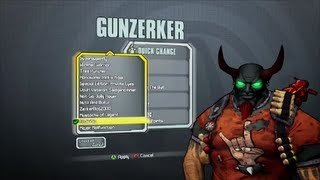 Borderlands 2 All Gunzerker DLC Heads and Skins (Supremacy, Madness and Domination)