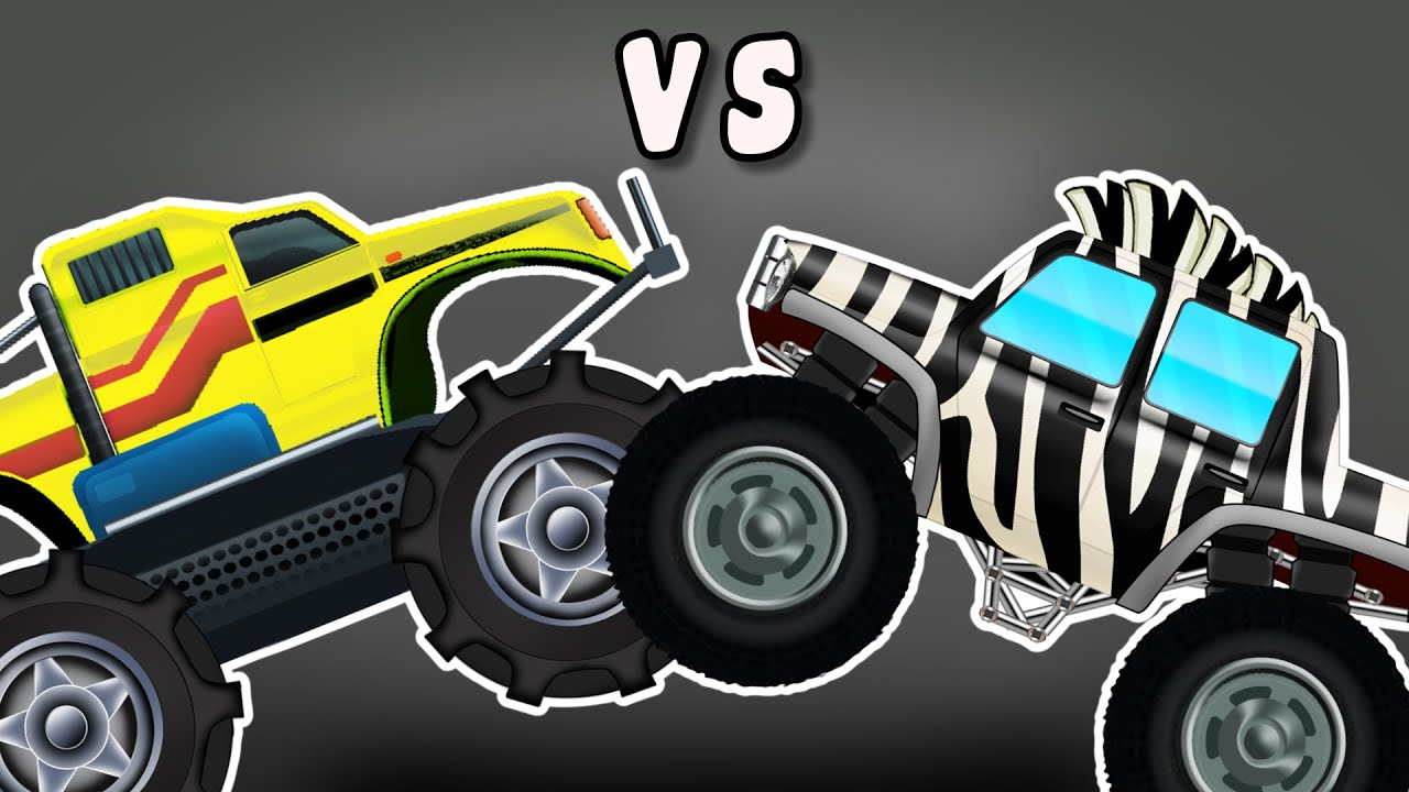 monster truck vs zebra monster truck monster trucks. Black Bedroom Furniture Sets. Home Design Ideas